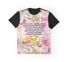 Education quote Jane Austen teacher teaching Graphic T-Shirt