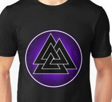Norse Valknut - Purple and Black Unisex T-Shirt