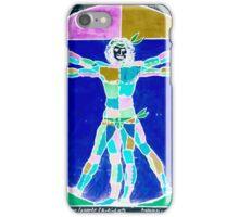 Vitruvian Man Colour Rev iPhone Case/Skin
