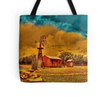 Cabin on a Windy Hill Tote Bag