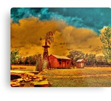 Cabin on a Windy Hill Metal Print