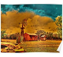 Cabin on a Windy Hill Poster