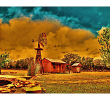 Cabin on a Windy Hill Photographic Print