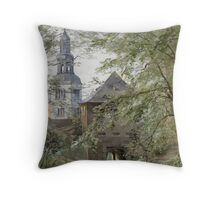 Mulln Monastery in Augustiner Braustubl (Salzburg) by Edward Theodore Compton Throw Pillow