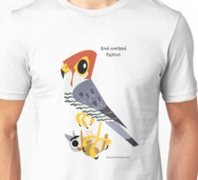 Red-necked Falcon caricature Unisex T-Shirt