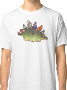 Green Stegosaurus Derposaur with Hats Classic T-Shirt