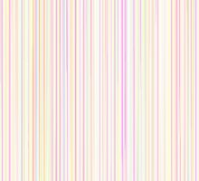 Pastel Line Pattern in Rainbow Colors on White Background by amovitania