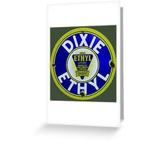 Dixie Ethyl Pump Plate Greeting Card