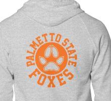 palmetto state circle crest orange Zipped Hoodie