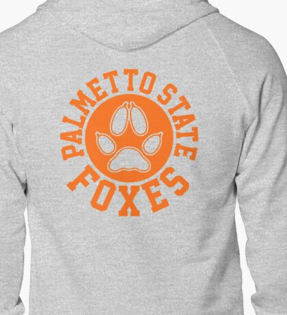 palmetto state circle crest orange Zipped Hoodie