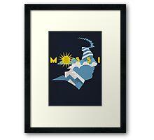 The Little Maestro - Albiceleste Framed Print