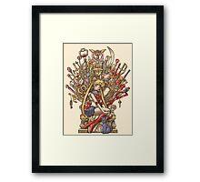 Throne of Magic - Sailor Moon Framed Print