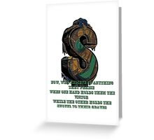 Coheed and Cambria- The Hard Sell lyrics Design Greeting Card