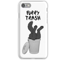Furry Trash - Black/Melanistic Wolf iPhone Case/Skin