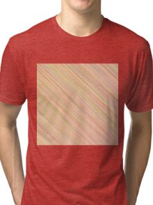 Pink Colorful Grunge Diagonal Line Pattern Tri-blend T-Shirt