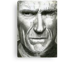 Pencil Portrait - Clint Eastwood Canvas Print