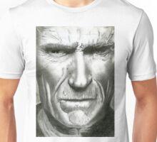 Pencil Portrait - Clint Eastwood Unisex T-Shirt