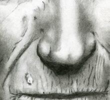 Pencil Portrait - Clint Eastwood Sticker