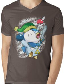 Pokemon Link Piplup Mens V-Neck T-Shirt