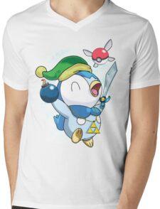 Pokemon Link Piplup Mens V-Neck T-Shirt