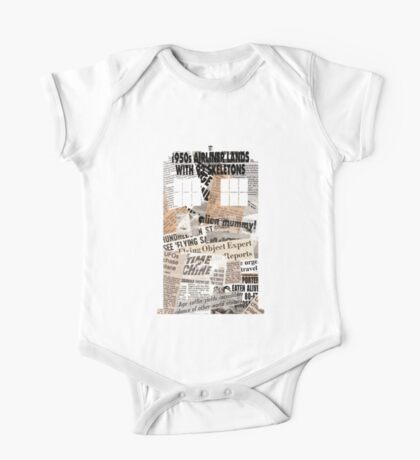 Doctor Who - TARDIS newspaper articles One Piece - Short Sleeve