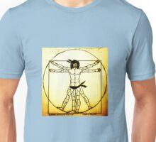 Vitruvian Man Mono Haze Unisex T-Shirt