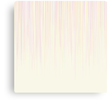 Pastel Pink Line Pattern on White Background Canvas Print