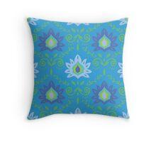 ISLANDER in Aqua Throw Pillow