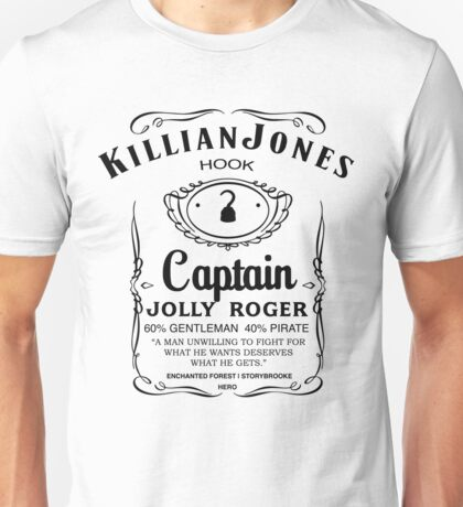 Killian Jones Whiskey (White Background) Unisex T-Shirt