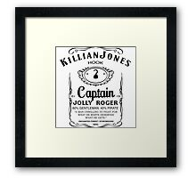 Killian Jones Whiskey (White Background) Framed Print