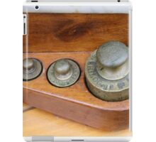 old measures of weights iPad Case/Skin