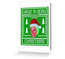 idubbbz christmas sweater 1 Greeting Card