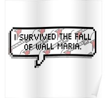 I survived The Fall of Wall Maria Poster