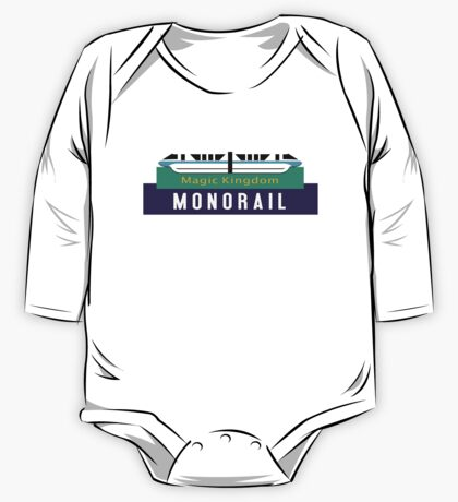 Monorail Magic Kingdom Sign One Piece - Long Sleeve