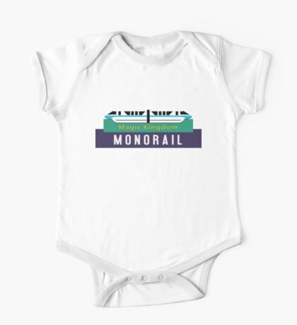 Monorail Magic Kingdom Sign One Piece - Short Sleeve