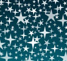 Silver Stars on Dark Blue Sky Background Sticker