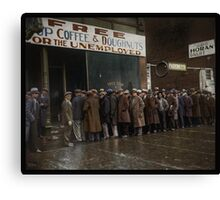 Al Capone's Soup Kitchen, Chicago, 1931 Canvas Print