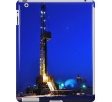 Drilling Rig at Night iPad Case/Skin