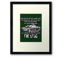 Stug WW2 tank destroyer T shirt Framed Print