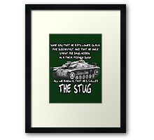 Stug WW2 tank destroyer T shirt Framed Print