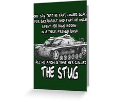 Stug WW2 tank destroyer T shirt Greeting Card