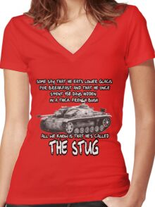 Stug WW2 tank destroyer T shirt Women's Fitted V-Neck T-Shirt