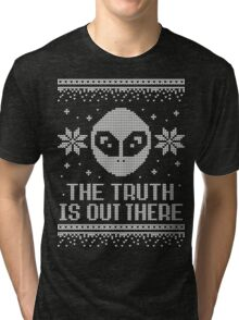 The X-Files Holiday Sweater - The Truth Is Out There Tri-blend T-Shirt