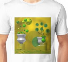 Golden and green still life Unisex T-Shirt
