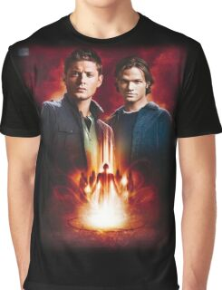 Sam And Dean Supernatural Graphic T-Shirt
