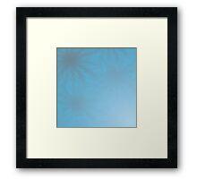 Tender Fading Background From Blue Flowers Framed Print