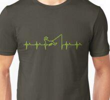 My heart beats for fishing (green) VRS2 Unisex T-Shirt