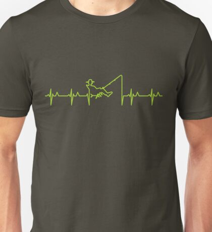 My heart beats for fishing (green) VRS2 T-Shirt