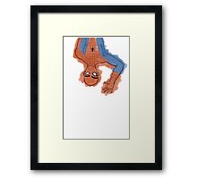 Spidey Brows Framed Print