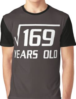 Square Root of 169 13 yrs old 13th birthday T-Shirt Graphic T-Shirt